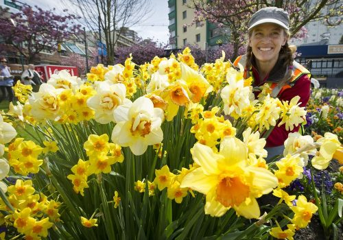 Flower power: 'Get your nose in there,' says Davie and Denman's gardener Laura Principe!