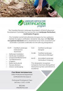 Landscape Horticulture Certification