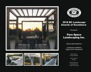 Landscape Award of Excellence - Bissonnette Residence