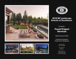 Landscape Award of Excellence - West Vancouver Estate