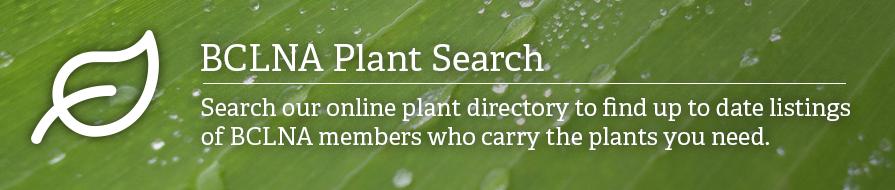 BCLNA Plant Search