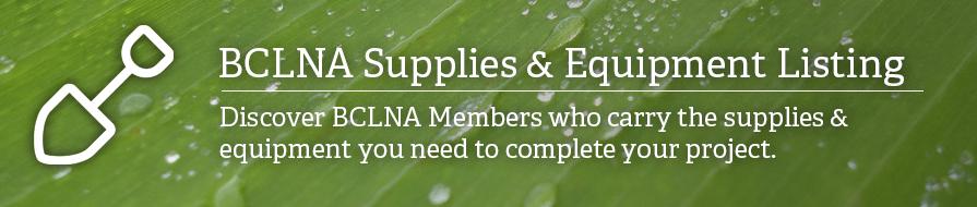 BCLNA Supplies & Equipment Search