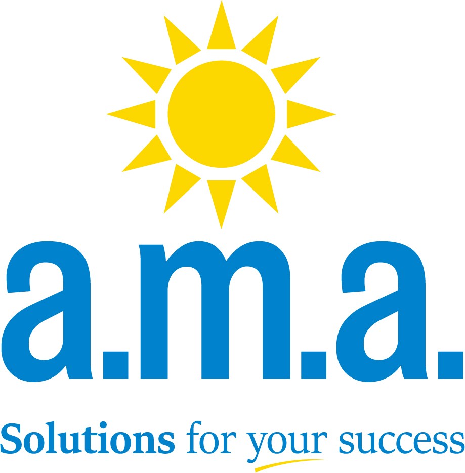 AMA-Logo_with Slogan_Stacked_Process Blue & Yellow 012 C_High Res WR