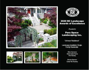 Landscape Installation Single Family Residential- Johnson Residence